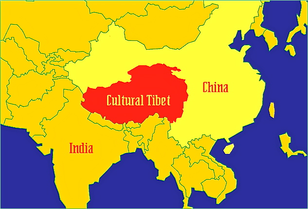 tibet karta Общие карты Тибета | Тибет Изнутри tibet karta